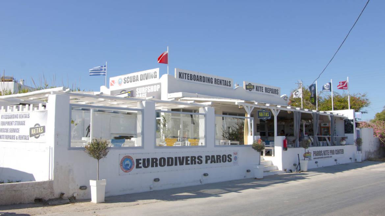 Eurodivers Padi 5 resort on Paros Island Greece