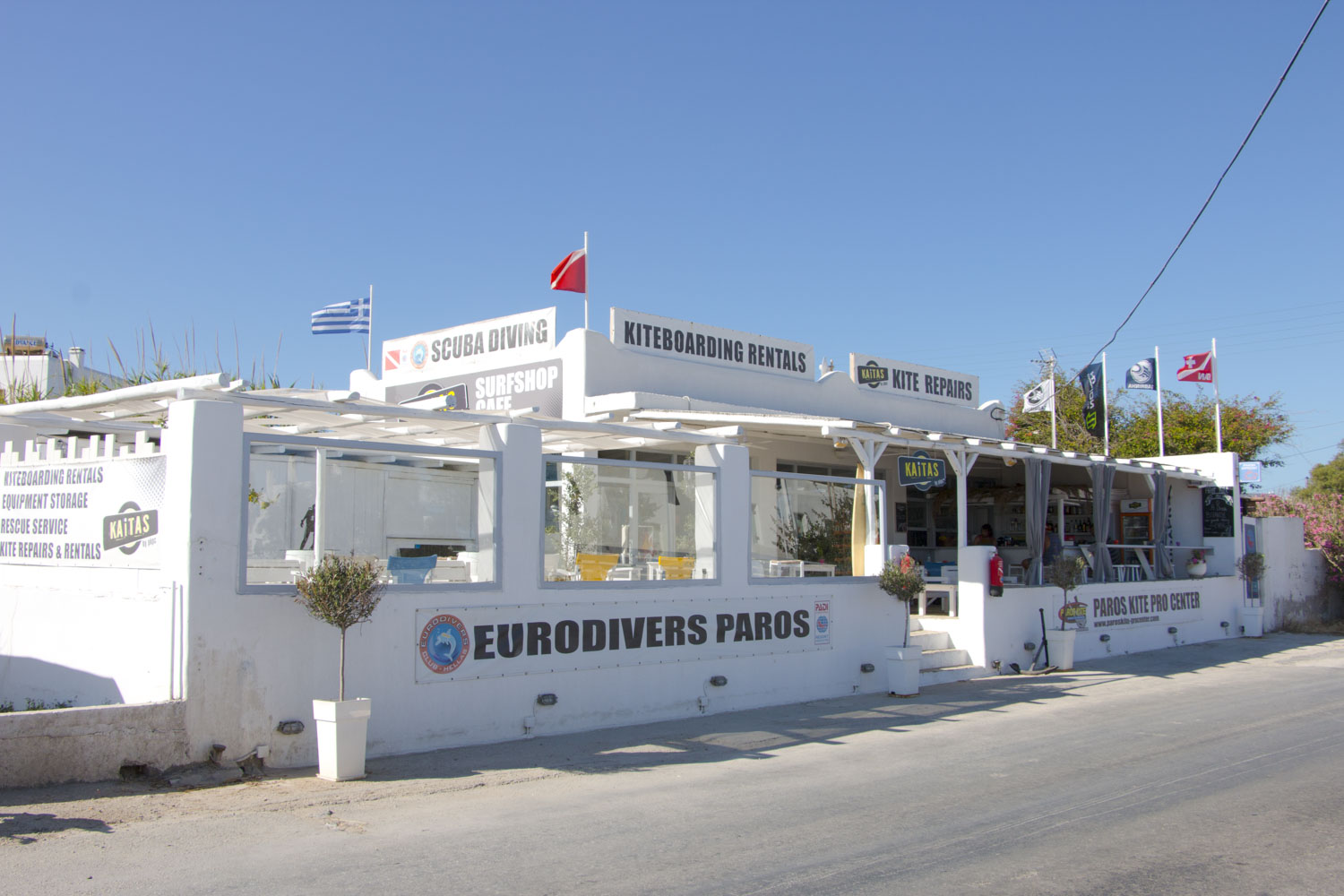 Eurodivers Padi 5 resort on Paros Island Greece